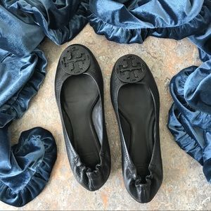 Tory Burch Black Reva Flats Shoes